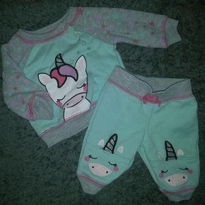 Newborn girl sweat suit